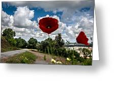 The Poppies Show You The Way Greeting Card