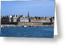 The Port Of St Malo France Greeting Card