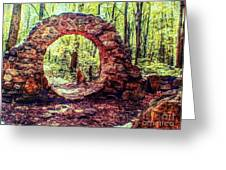 The Portal To Love Life Peace 1 Greeting Card