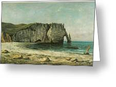 The Porte D'aval At Etretat Greeting Card