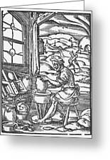 The Potter, 1574 Greeting Card