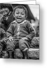 The Power Of Smiles Bw Greeting Card