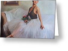 The Prima Ballerina Greeting Card by Anna Rose Bain