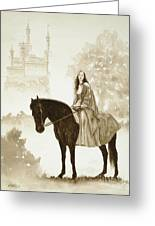 The Princess Has A Day Out. Greeting Card