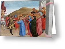 The Procession To Calvary Greeting Card