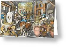 The Production Of Olive Oil, Plate 13 Greeting Card