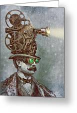 The Projectionist Greeting Card