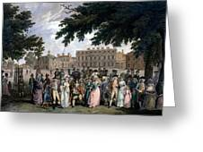The Promenade In St James Park, C.1796 Greeting Card