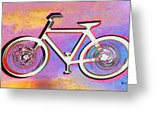 The Psychedelic Bicycle Greeting Card