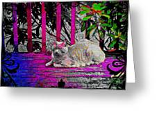The Psychedelic Cat Greeting Card