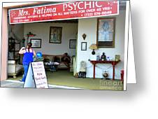 The Psychic Down The Shore Greeting Card
