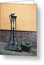 The Pump At St Goar Am Rhein Greeting Card