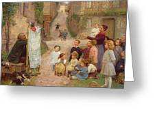 The Puppet Show Greeting Card