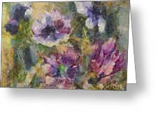 The Purple Bouquet Greeting Card