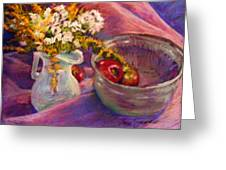 The Purple Bowl Greeting Card