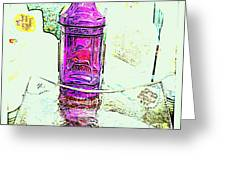 The Purple Medicine Bottle Greeting Card