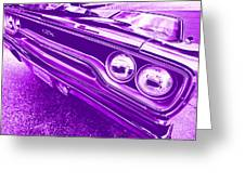 The Purple People Eater - 1970 Plymouth Gtx Greeting Card