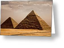 The Pyramids Of Giza Greeting Card