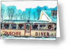 The Quechee Diner Vermont Greeting Card