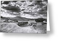 The Queen's Head Geological Park. Toned Greeting Card