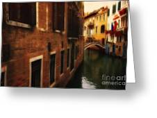 The Quiet Canal Greeting Card
