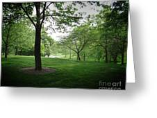 The Quiet Park Greeting Card