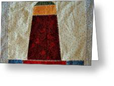 The Quilt Work Of Chambers Island Lighthouse  Greeting Card