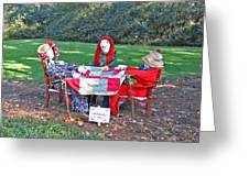 The Quilting Bee Scarecrows Greeting Card