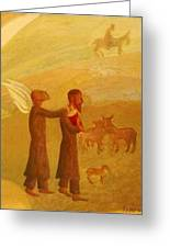 The Rabbi Leading The Angel Greeting Card