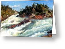 The Raging Rapids Greeting Card