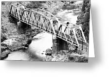 The Rail Bridge Greeting Card