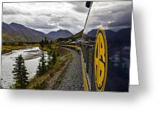 The Rails To Denali Greeting Card