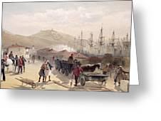 The Railway At Balaklava, Plate Greeting Card