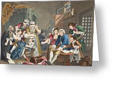 The Rake In Prison, Plate Vii, From A Greeting Card