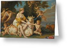 The Rape Of Europa Greeting Card