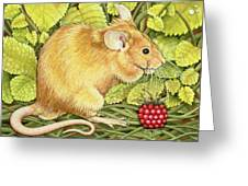 The Raspberry Mouse Greeting Card