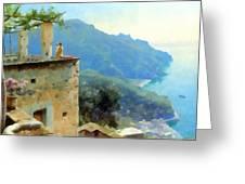 The Ravello Coastline Greeting Card