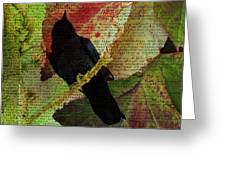 The Raven By Edgar Allan Poe  Greeting Card
