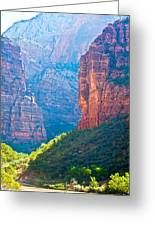 the rd through Zion Greeting Card