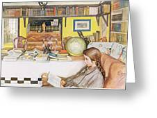 The Reading Room, Pub. In Lasst Licht Greeting Card