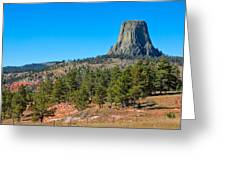 The Realm Of Devils Tower Greeting Card
