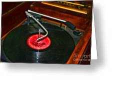 The Record Player Greeting Card