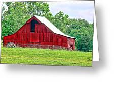The Red Barn - Featured In Old Buildings And Ruins Group Greeting Card