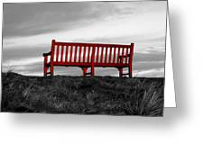 The Red Bench Greeting Card