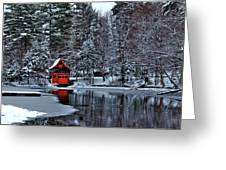 The Red Boathouse - Old Forge Ny Greeting Card