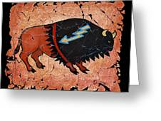 The Red  Buffalo Fresco Greeting Card