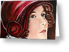 Red Cloche Greeting Card