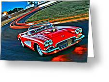 The Red Corvette Greeting Card