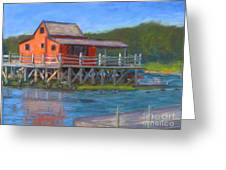 The Red Fish House Greeting Card