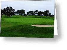 The Red Flagstick-torrey Pines Greeting Card